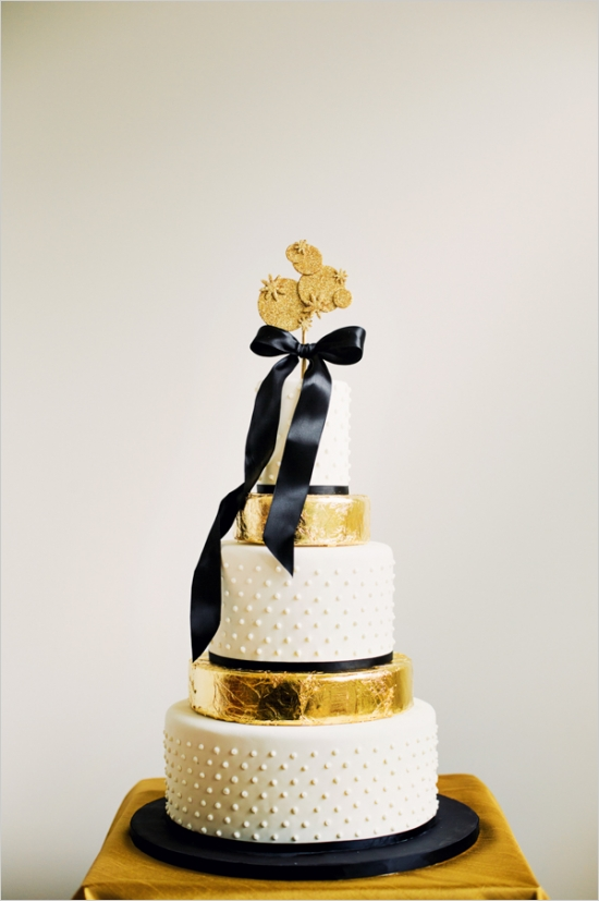 Black Tie Modern New Year Party Cake