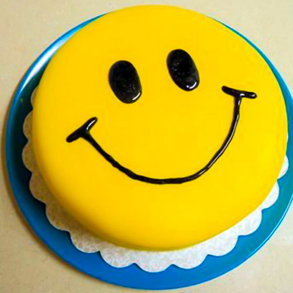 Friendship Day Smiley Fondant Cake