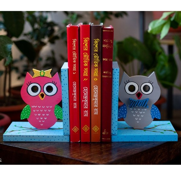Creative Corner Owl Themed Wooden Book End By Hitchki Gift Bookends Online Buy Now Halfcute